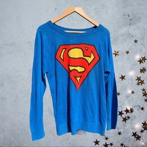 Superman Blue light sweater Small